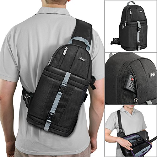 Altura Photo Camera Sling Backpack for DSLR and Mirrorless Cameras (Canon Nikon Sony Pentax) (Photo Backpack Slr)