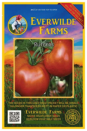 Everwilde Farms - 100 Rutger's Tomato Seeds - Gold Vault Jumbo Seed Packet