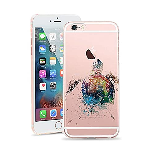 iPhone 6S Plus Case,JICUIKE [Color Printed] Cute Animal Pattern Painted Silicone Protective Skin Ultra Slim Clear Soft TPU Bumper Cover for iPhone 6 plus Shell 5.5 inch [Watercolor (Iphone 6plus Disney Animal Cases)