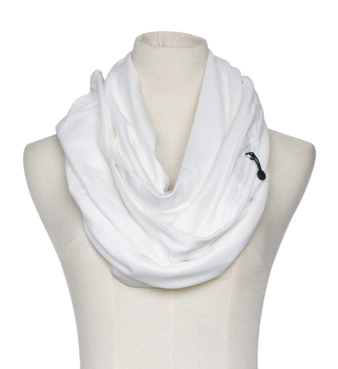 Women's Solid Infinity Travel Scarf With Secret Zipper Pockets (Grey) BGWBKD72GY