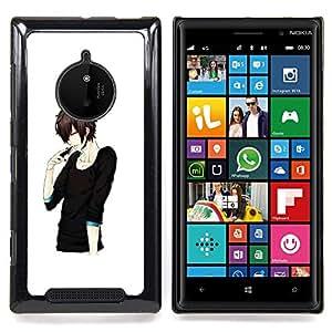 - Japanese Anime Black Man Guy Asian - - Snap-On Rugged Hard Cover Case Funny HouseFOR Nokia Lumia 830