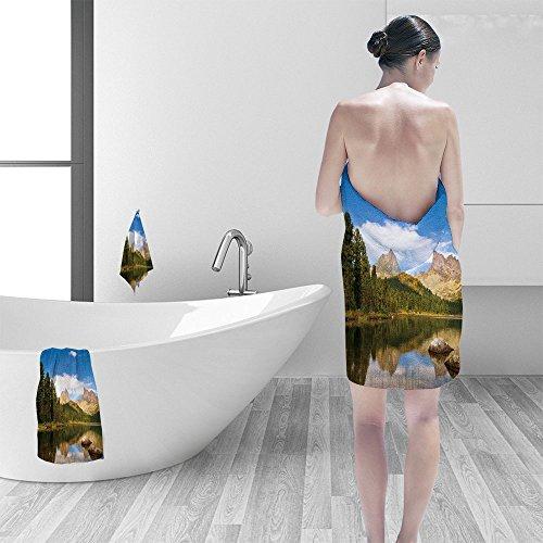 Juego de toallas de baño Nalahomeqqqq, collage tropical, palma de playa y chaise longues 3D, impresión digital, sin...
