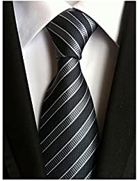 Men's Classic Stripe Jacquard Woven Silk Tie Formal Party Suit Necktie