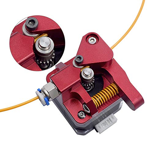 WINSINN Ender 3 Dual Gear Extruder CR10 Pro Upgraded Aluminum Dual Extrusion Drive Feed 3D Printer Extruder for Creality CR-10 Pro CR-10S Ender 3 Tornado 1.75mm Filament