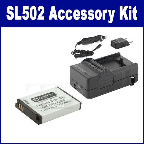 Samsung SL502 Digital Camera Accessory Kit includes: SDSLB10A Battery, SDM-1501 Charger