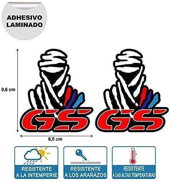 X 2 Pegatinas STIKERS Rally Compatible con Dakar GS BMW Moto IMPRESIÓN Digital Laminado Protector: Amazon.es: Coche y moto