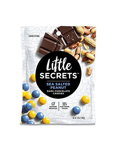 Little Secrets - Gourmet Chocolate Candy - Dark Chocolate Sea Salted Peanut {5 oz., 1 Count} - The World's Most Unbelievably Delicious Chocolate Candies - Chocolate Salted Butter
