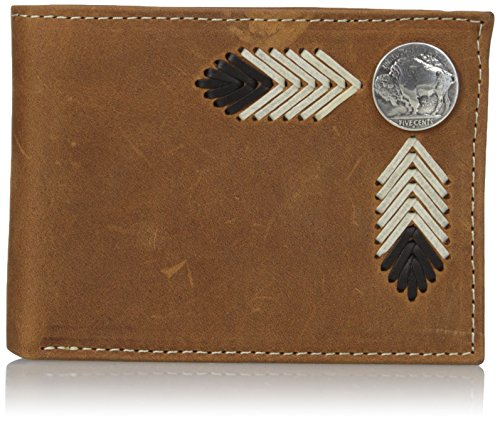 Wallet Leather Buffalo - Nocona Belt Co. Men's Nocona Buffalo Nickle Bifold, Brown One Size