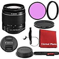 Canon EF-S 18-55mm f/3.5-5.6 IS II DSLR Lens Bundle With Filters, Lens Cap Keeper and More
