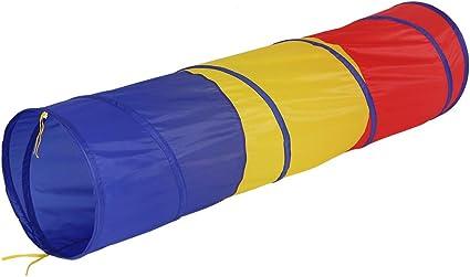 soulong tunnel de jeu enfant interieur et exterieur 180 x 46 cm tente de tunnel tube pliable tunnel de jardin multicolore pour enfants bebes