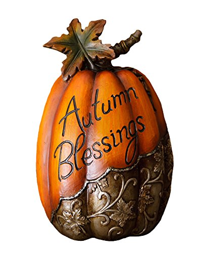 Your Hearts Delight 10-1/2 by 6-Inch Autumn Blessings Pumpkin Decor