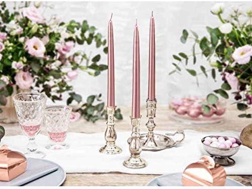 Rosegold Kerzen Tischdecke