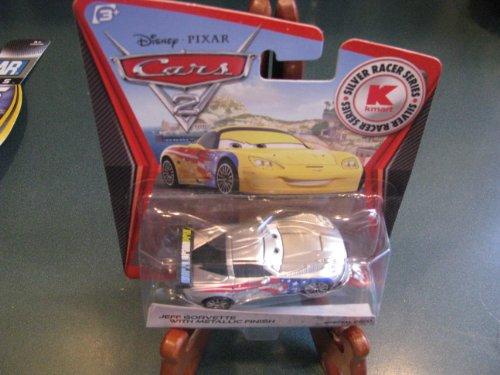 Disney / Pixar CARS 2 Movie 1:55 Scale Die Cast Car Silver Racer Series Metallic Finish Jeff Gorvette