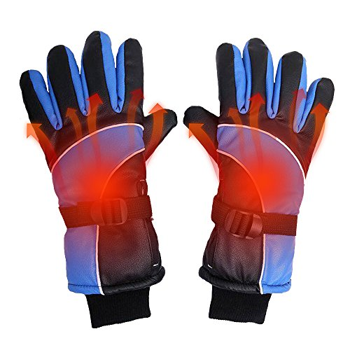 NICE GE NICE Heated Gloves Rechargeable for Men Electric Battery Powered Winter Warm Windproof Outdoor Sports Hiking Motorcycle Skiing Cycling Snowboarding Heating Gloves,Blue
