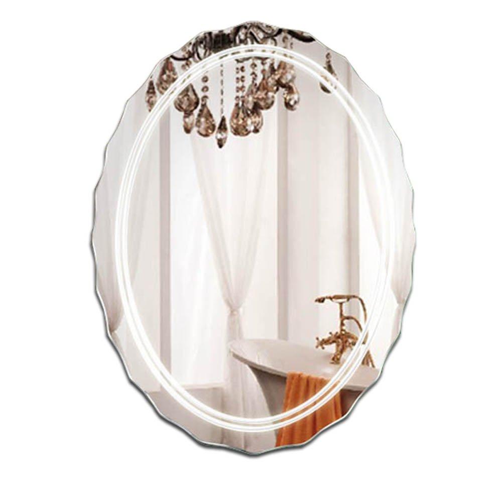 SXLL鏡 メイクアップミラーウォールマウントシンプルでモダンなフレームレスシンクの洗面化粧台の鏡 (サイズ さいず : 45*60cm) B07KY4Z1T3  45*60cm