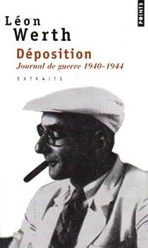 Déposition. Journal 1940-1944 par Werth