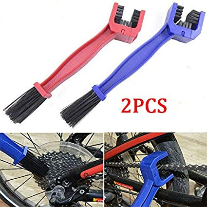 2Pcs Bicycle Chain Gear Clean Brush Cleaning Bike Cycling Cleaner Scrubber Tool