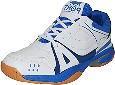 51de6be7a5226 Port Men's Synthetic White Liberal Volleyball Sports Shoe: Buy ...