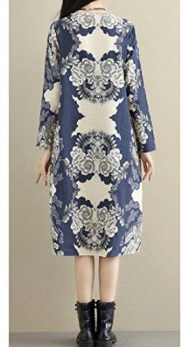 1 Linen Plus Coolred Women's Chinese Dress style Velvet Winter Cotton TzHqap7