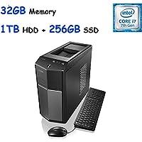 2017 Edition Lenovo IdeaCentre 710 High Performance Gaming Desktop, Intel Quad-Core i7-6700 (3.4GHz), 32GB DDR4, 256GB SSD + 1TB HDD, SuperMulti DVD, NVIDIA GeForce GTX 960 2GB, Win10