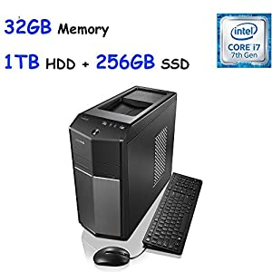 2017 Edition Lenovo IdeaCentre 710 High Performance Gaming Desktop, Intel Quad-Core i7-6700 (3.4GHz), 32GB DDR4, 256GB SSD + 1TB HDD, SuperMulti DVD, NVIDIA GeForce GTX 960 2GB, Win10