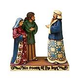 Jim Shore Heartwood Creek Mary and Joseph with Inn Keeper Figurine, 8-1/4-Inch