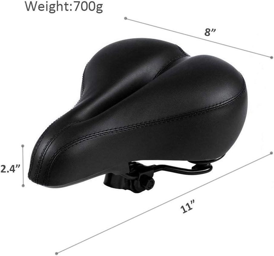 Dual Shock Absorbing Airflow System Waterproof Replacement Universal Fit for Indoor//Outdoor Bikes Men Women Bike Seat Saddles Comfortable Bicycles Seat Memory Foam Padded Bicycle Saddle