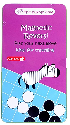 The Purple Cow- Magnetic Reversi Game. Travel Size Board Game Set for Kids