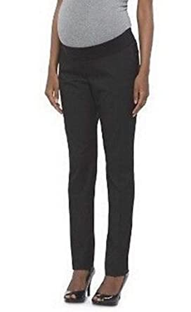 cd53aeb63cdbd Liz Lange Maternity Black Under The Belly Straight Leg Pants (Medium ...