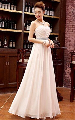 Vimans -  Vestito  - linea ad a - Donna Light champagne 46