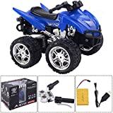 MD Group RC ATV Motorcycle Remote Control 1/12 Scale 2.4G 4D Blue ABS Kids Car Toys