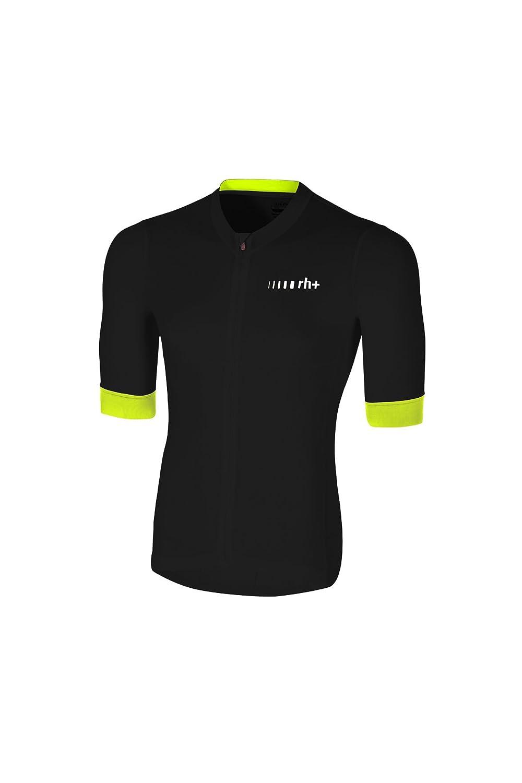 [アールエイチプラス] ECU0417 Logo Jersey R91 Black-Fluo Yellow-Reflex M サイクルジャージ メンズ Black-Fluo EU M (日本サイズM相当)   B07BQRXRHG