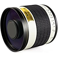 Opteka 500mm f/6.3 HD Telephoto Mirror Lens for Olympus PEN E-PL7, E-P5, E-PL5, E-PM2, E-P1, E-P2, E-PL1, E-PL1s, E-PL2 and other Micro Four Thirds Mirrorless Digital Cameras