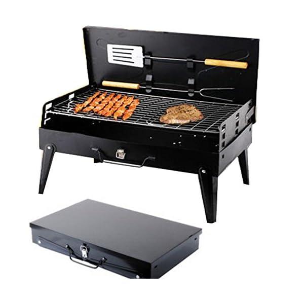 SunJas Griglia Pratica Portatile e Pieghevole Campeggio Mini Fornello Barbecue 1 spesavip