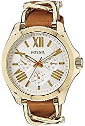 Fossil Women's AM4619 Cecile Multifunction Gold-Tone Stainless Steel and Leather Watch