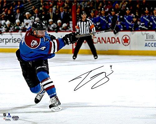 "Tyson Barrie Colorado Avalanche Autographed 16"" x 20"" Horizontal Shooting Photograph - Fanatics Authentic Certified"