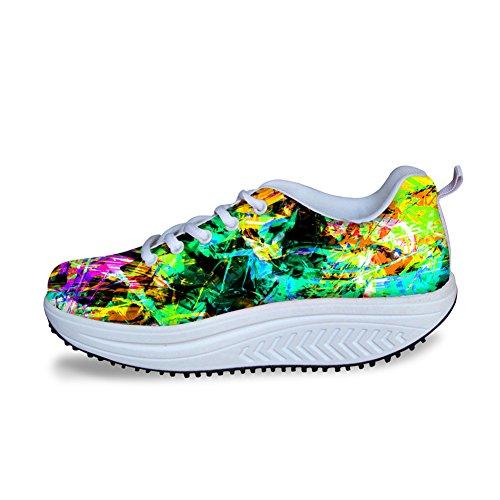Sneakers Comfort Fashion Multicolor HUGS Womens Mesh Multicolor 10 IDEA xwUanY