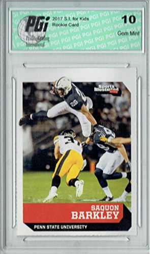 Saquon Barkley 2017 S.I. KIds #614 True Rookie Card PGI 10