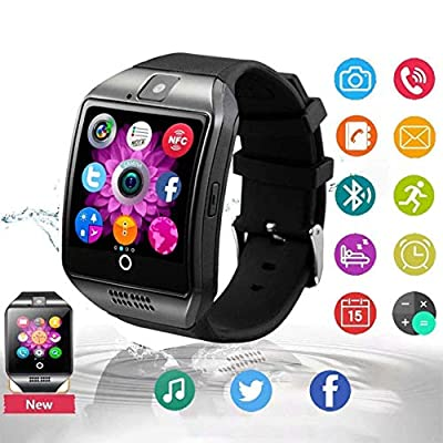 Bluetooth Smart Watch Touch Screen Smartwatch Smart Wrist Watch Phone Fitness Tracker SIM TF Card Slot Camera Pedometer Kids Women Men Compatible with iOS iPhone Android Samsung LG