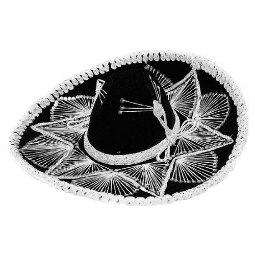 Fiesta Sombrero Adult Black and White Assortment Hand Made Mexico (Fiestas Halloween Mexico)