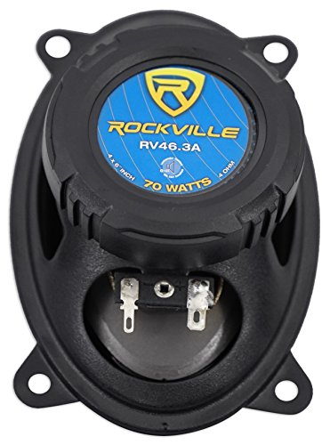 Pair Rockville RV46.3A 4x6'' 3-Way Car Speakers 500 Watts/70 Watts RMS CEA Rated by Rockville (Image #4)