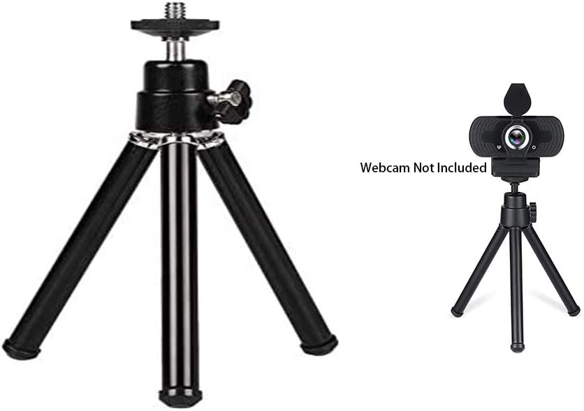Multifunctional Mini Lightweight Webcam Table Stand for Logitech Webcam Light Phone and Sport Camera. Desk Tripod Webcam Stand