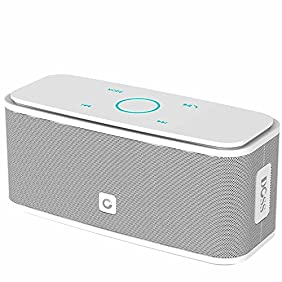 DOSS SoundBox Bluetooth 4.0 Portable Wireless speaker,Superior Sound quality with a powerful Subwoofer,sensitive touch control,Sleek and Modern Design,Build in Microphone[Color:White]