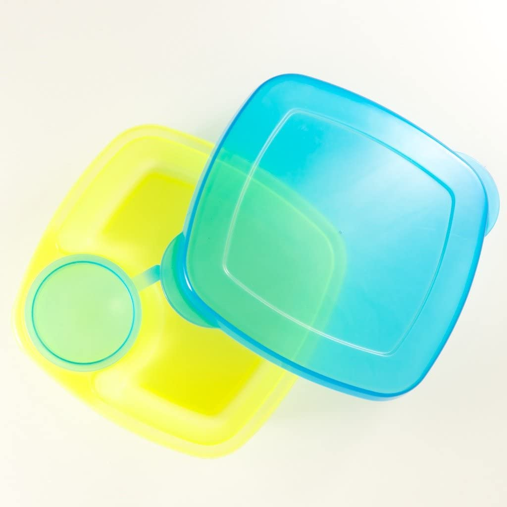 Green//Blue Baby Buddy Compac Take A Dip 2the Side Container