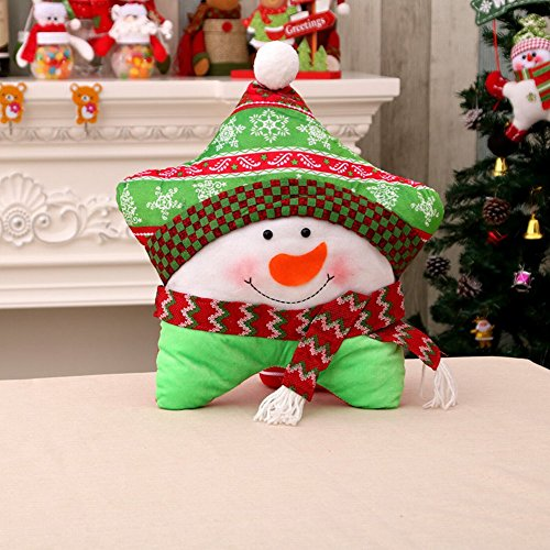 Adornos Navideños Navidad Cinco Estrellas Pillow Christmas Pillow Tres Electrodomésticos Opcionales de Navidad,B,Longitud...