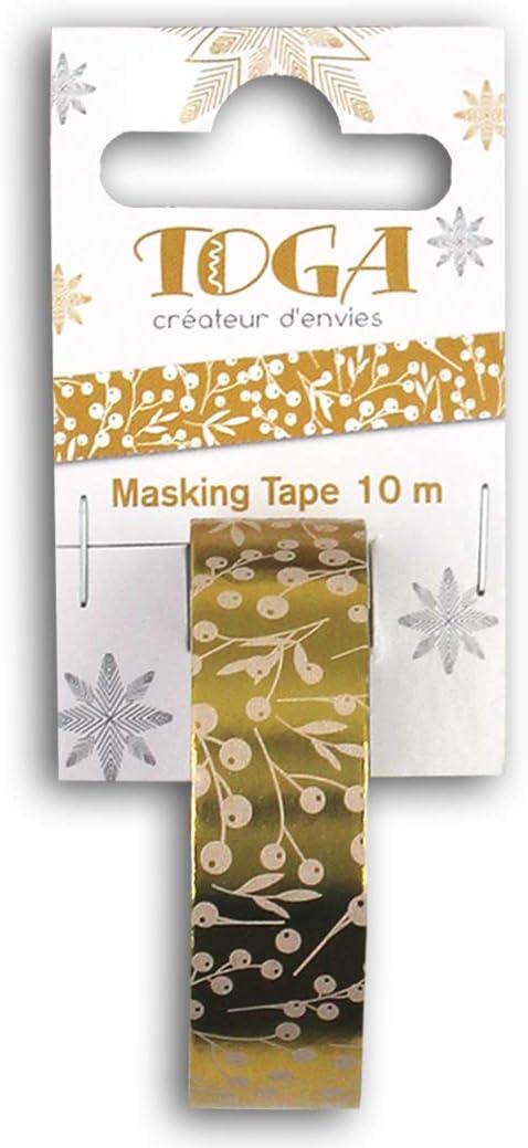 Toga Or de Bombay Argent Ruban Masking Tape Feuillages taille unique