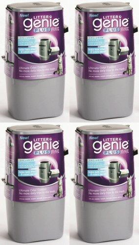 Litter Genie Plus Cat Litter Disposal System SILVER 4pk