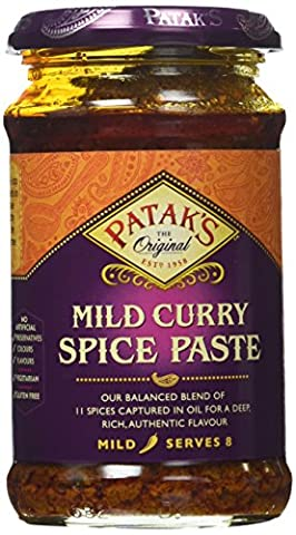 Patak's Curry Paste Mild, 10-Ounce Jars (Pack of 6) - Patak Curry Paste