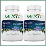 Naturyz Combo Of Cold Pressed Flaxseed Oil (Omega 3-6-9) 1000 Mg - 60 Softgel Each (Pack Of 2 )