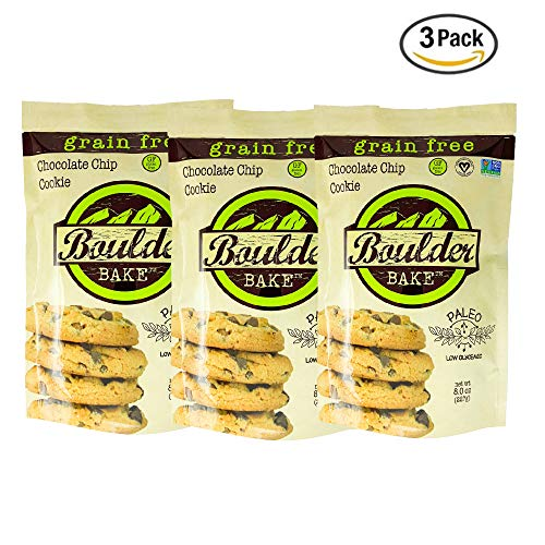 Boulder Bake Delicious Cookie Mix, Grain and Gluten Free, Paleo, Vegan, Soy Free, Non GMO, Loy Glycemic, Low Carb, Keto Friendly (3 pack)
